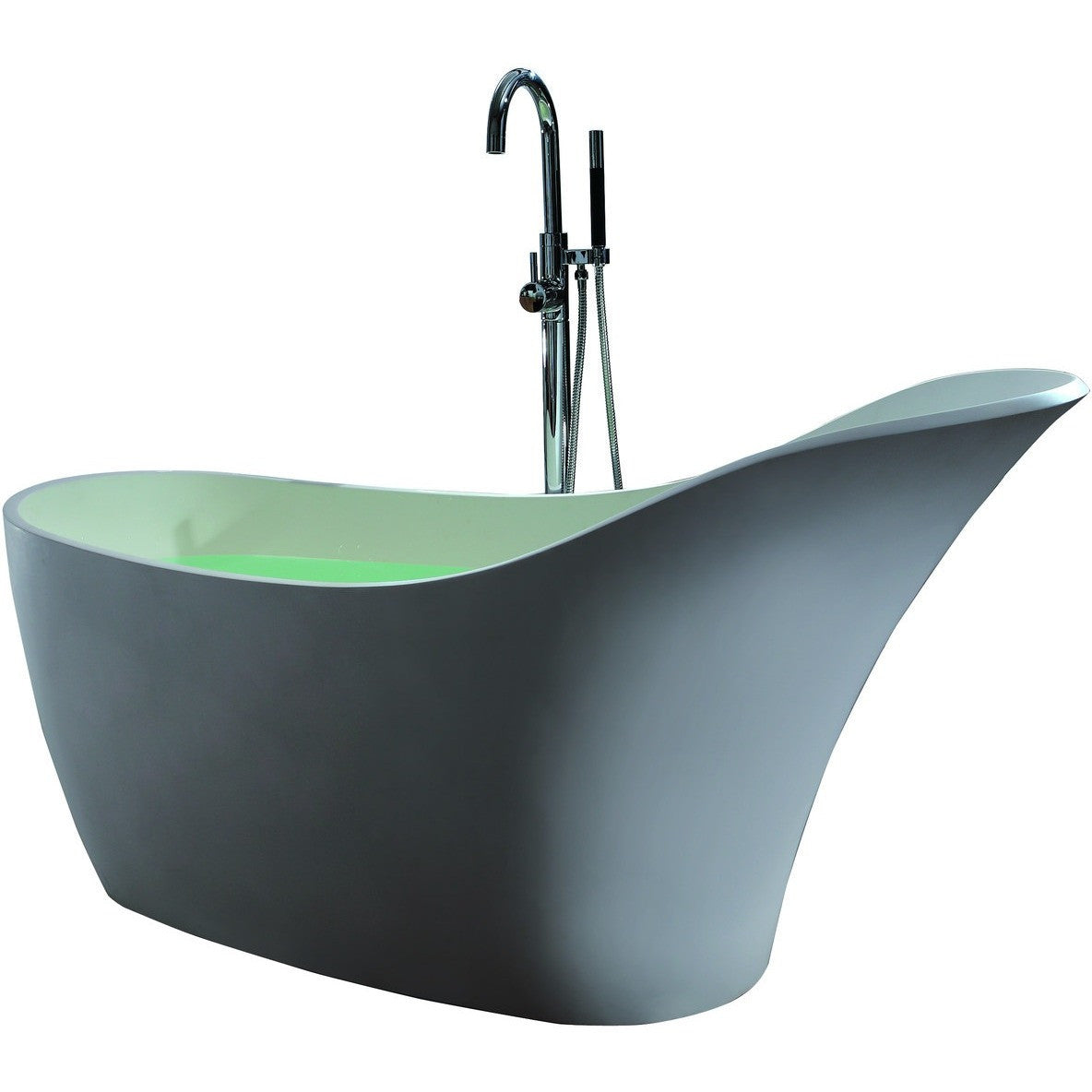 "Control Brand True Solid Surface Soaking Tub - ""Slipper"" - Luxury ..."