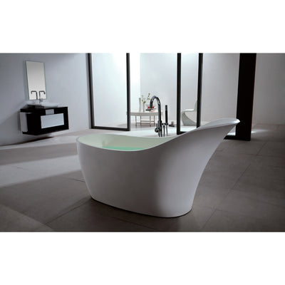 "Control Brand True Solid Surface Soaking Tub - ""Slipper"" - Affordable Cheap Freestanding Clawfoot Bathtubs Tub"