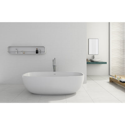 "Control Brand True Solid Surface Soaking Tub - ""Pure"" - Affordable Cheap Freestanding Clawfoot Bathtubs Tub"