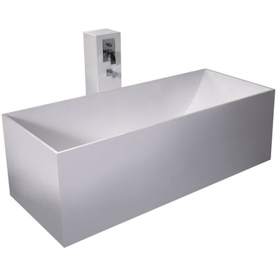 "Control Brand True Solid Surface Soaking Tub - ""Reiki"" - Affordable Cheap Freestanding Clawfoot Bathtubs Tub"