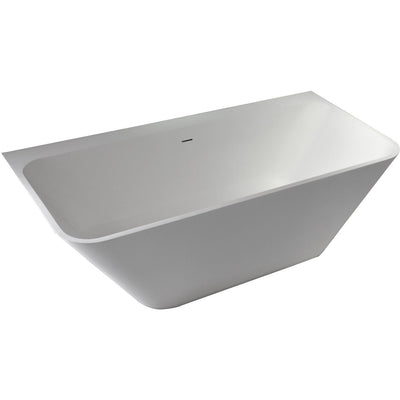 "Control Brand True Solid Surface Soaking Tub - ""Bliss"" - Affordable Cheap Freestanding Clawfoot Bathtubs Tub"