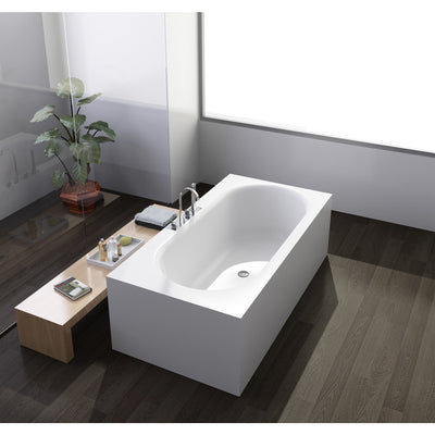 "Control Brand True Solid Surface Soaking Tub - ""Zenith"" - Affordable Cheap Freestanding Clawfoot Bathtubs Tub"