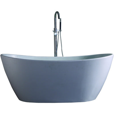 "Control Brand True Solid Surface Soaking Tub - ""Harmony"" - Affordable Cheap Freestanding Clawfoot Bathtubs Tub"