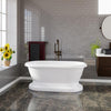 Barclay Columbus 61″ Cast Iron Double Roll Top Tub Kit
