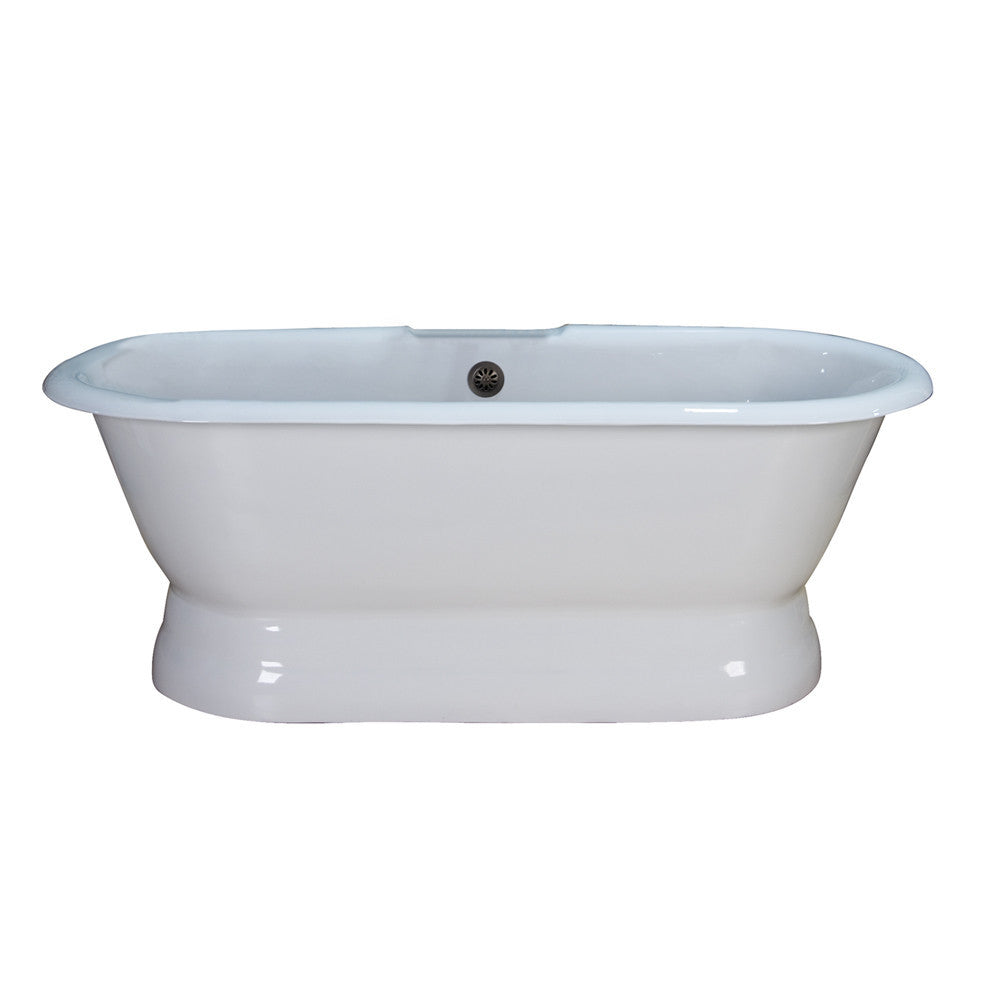 Barclay CTDRNB-WH Duet Cast Iron Double Roll Premium Tub WH - Luxury ...