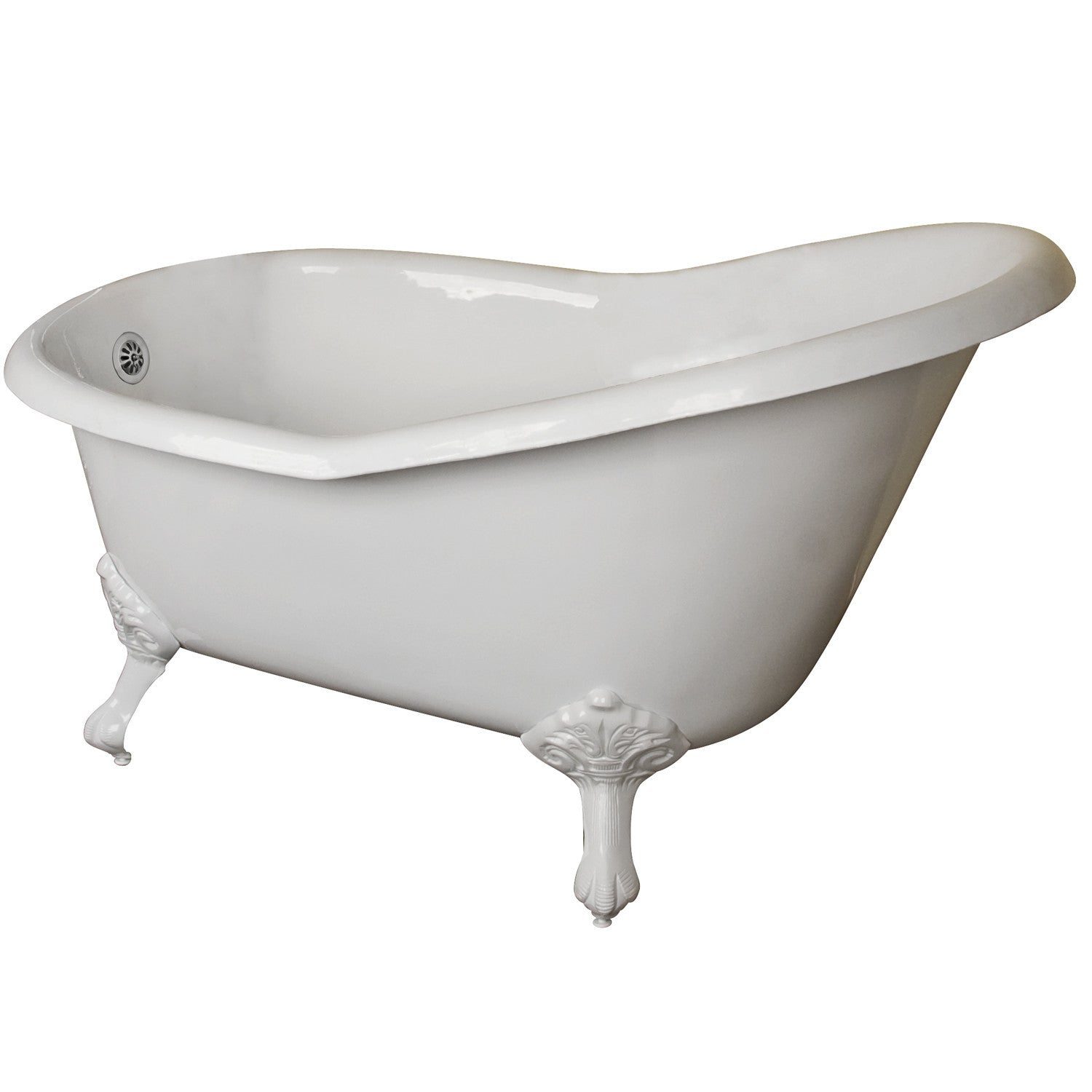 Barclay CTSN54I-WH Gavin, Premium Cast Iron Slipper Clawfoot Tub, 54 ...