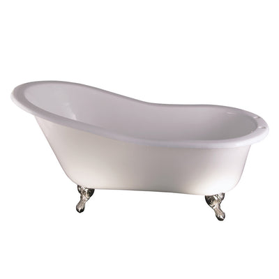 Barclay Products Griffin Cast Iron Slipper Freestanding Clawfoot Bathtubs Tub Front View White Background