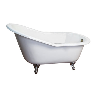 Barclay Products Icarus Cast Iron Slipper WH - Affordable Cheap Freestanding Clawfoot Bathtubs Tub