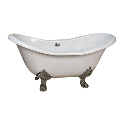 Barclay Products Macon Cast Iron Dbl Slipper - Affordable Cheap Freestanding Clawfoot Bathtubs Tub