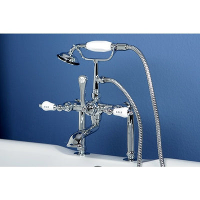 "Kingston Brass CC107T Vintage 7"" Deck Mount Tub Filler - Affordable Cheap Freestanding Clawfoot Bathtubs Tub"