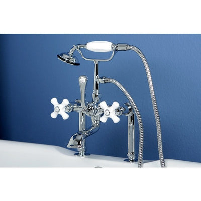 "Kingston Brass CC111T Vintage 7"" Deck Mount Tub Filler - Affordable Cheap Freestanding Clawfoot Bathtubs Tub"