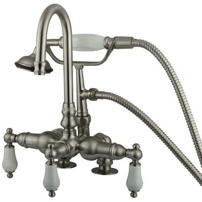 "Kingston Brass CC15T Vintage 3-3/8"" Deck Mount Tub Filler - Affordable Cheap Freestanding Clawfoot Bathtubs Tub"