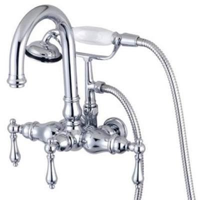 "Kingston Brass CC3013T Vintage 3-3/8"" Wall Mount Tub Filler - Affordable Cheap Freestanding Clawfoot Bathtubs Tub"