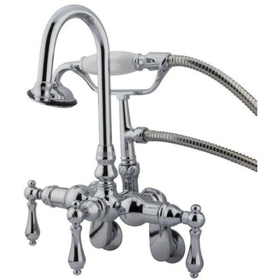 Kingston Brass CC301T Vintage Wall Mount Tub Filler with Adjustable Centers - Affordable Cheap Freestanding Clawfoot Bathtubs Tub