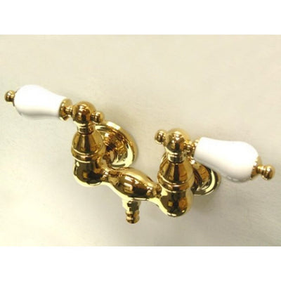 "Kingston Brass CC35T Vintage 3-3/8"" Wall Mount Tub Filler - Affordable Cheap Freestanding Clawfoot Bathtubs Tub"
