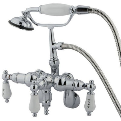 Kingston Brass CC423T Vintage Wall Mount Tub Filler with Adjustable Centers - Affordable Cheap Freestanding Clawfoot Bathtubs Tub