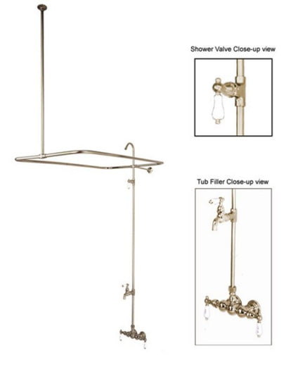 "Kingston Brass CC63T Vintage 3-3/8"" Wall Mount Tub Filler - Affordable Cheap Freestanding Clawfoot Bathtubs Tub"