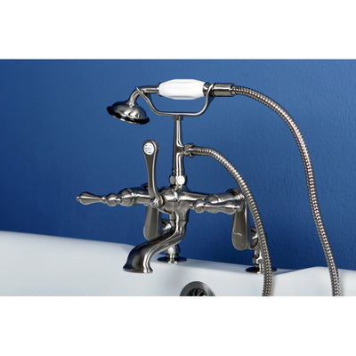 Kingston Brass CC651T Vintage Deck Mount Tub Filler with Adjustable Centers - Affordable Cheap Freestanding Clawfoot Bathtubs Tub