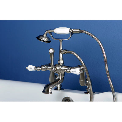 Kingston Brass CC653T Vintage Deck Mount Tub Filler with Adjustable Centers - Affordable Cheap Freestanding Clawfoot Bathtubs Tub