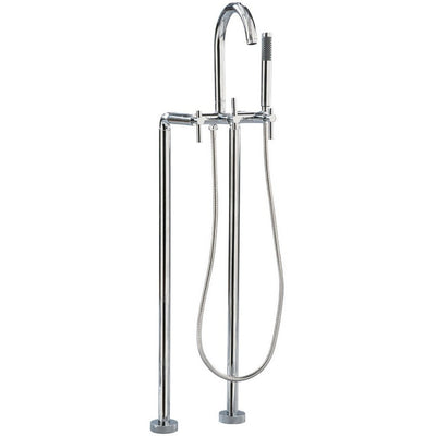 Giagni Contemporary Floor Mount Tub Faucet - Affordable Cheap Freestanding Clawfoot Bathtubs Tub