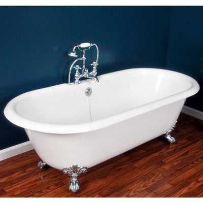 "Cambridge Plumbing Cast Iron Double Ended Clawfoot Tub 67"" X 30"" - Affordable Cheap Freestanding Clawfoot Bathtubs Tub"