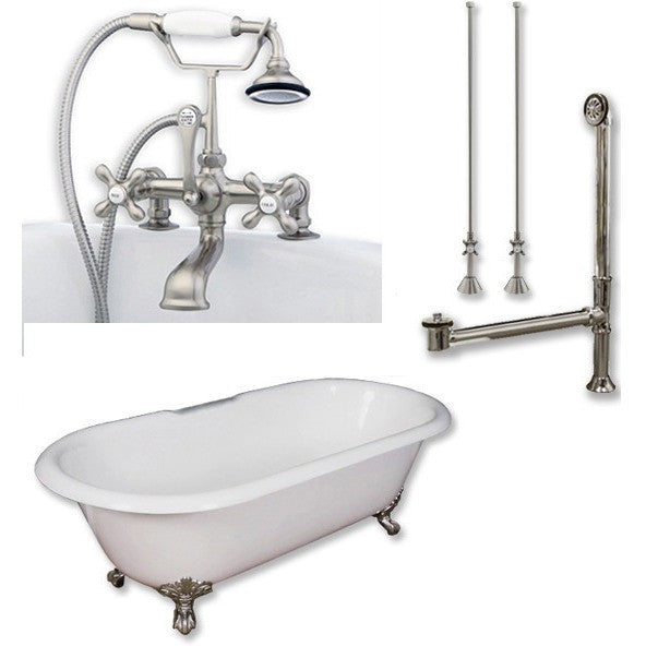 Cambridge Plumbing Cast Iron Double Ended Clawfoot Tub 67 X 30 7