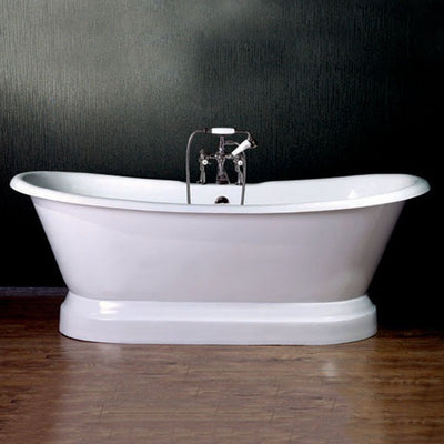 "Cambridge Plumbing DES-PED Cast Iron Double Ended Slipper Tub 71"" X 30"" - Affordable Cheap Freestanding Clawfoot Bathtubs Tub"