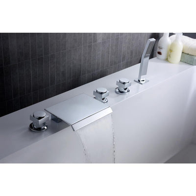 ANZZI Guaira Series FR-AZ044CH 3-Handle Deck-Mount Roman Tub Faucet