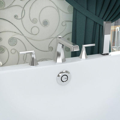 ANZZI Shine Series FR-AZ574 2-Handle Deck-Mount Roman Tub Faucet with Handheld Sprayer in Polished Chrome