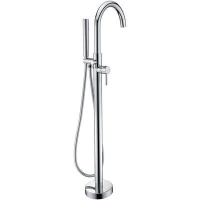 ANZZI Kros Series FS-AZ0025 2-Handle Freestanding Claw Foot Tub Faucet with Hand Shower