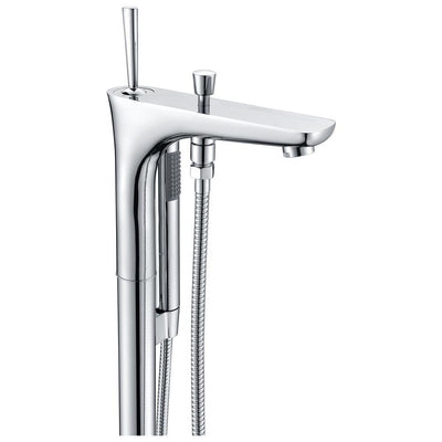 ANZZI Kase Series FS-AZ0029 1-Handle Freestanding Claw Foot Tub Faucet with Hand Shower