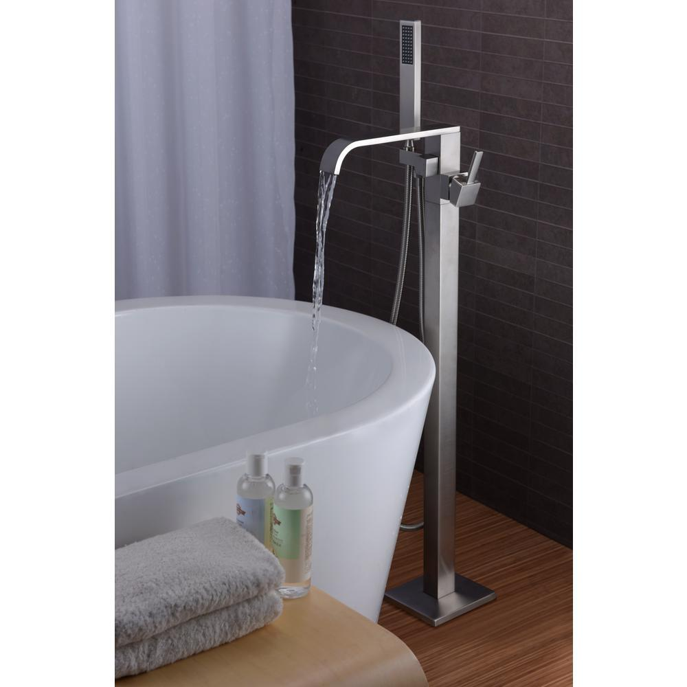 ANZZI Angel Series FS-AZ0044 2-Handle Claw Foot Tub Faucet with Hand ...