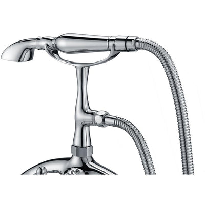 ANZZI Tugela Series FS-AZ0052 3-Handle Claw Foot Tub Faucet with Hand Shower