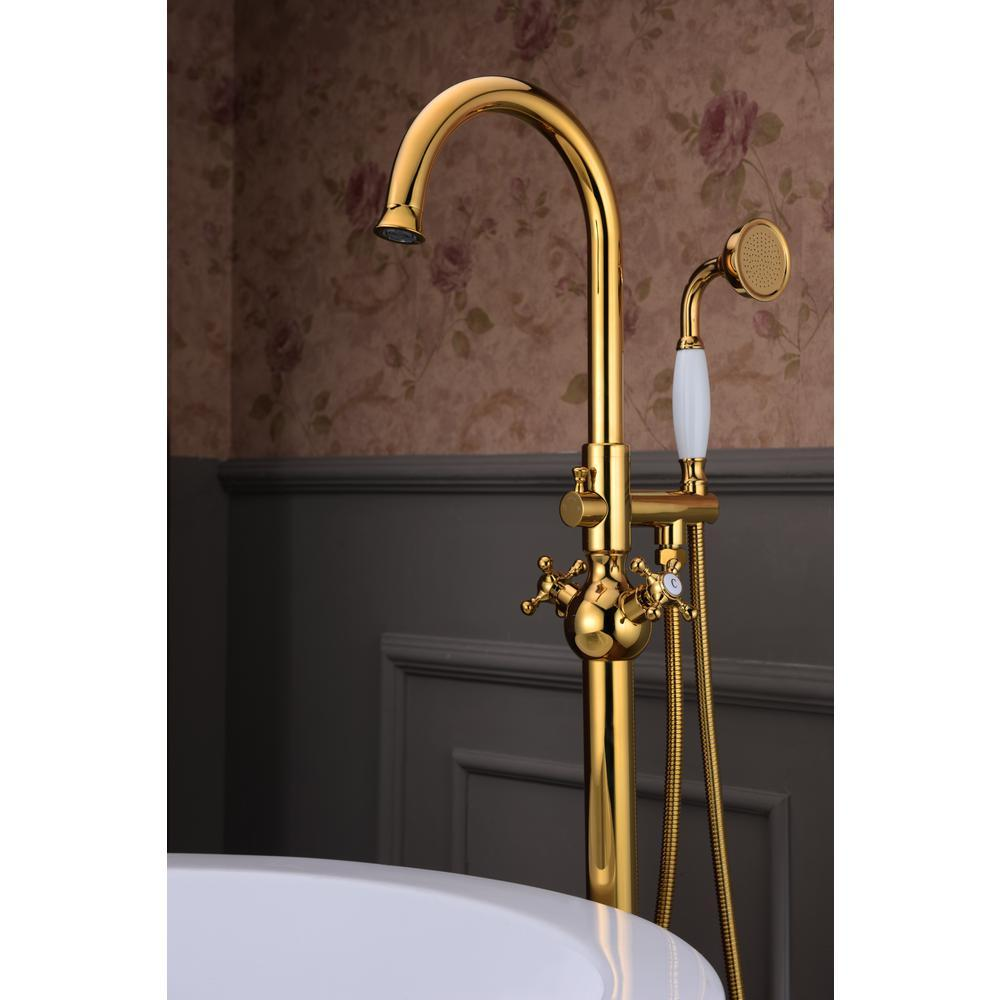 ANZZI Bridal Series FS-AZ0061RG 3-Handle Claw Foot Tub Faucet with ...