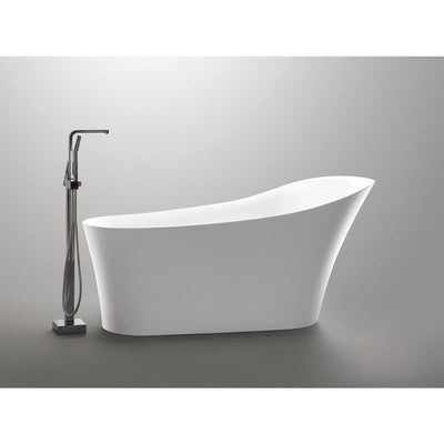 ANZZI Maple Series FT-AZ092 5.58 ft. Freestanding Bathtub in White