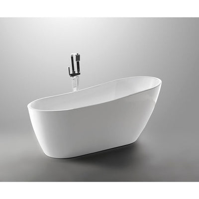 ANZZI Trend Series FT-AZ093 5.58 ft. Freestanding Bathtub in White