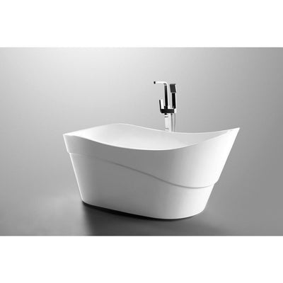 ANZZI Kahl Series FT-AZ094 5.58 ft. Freestanding Bathtub in White
