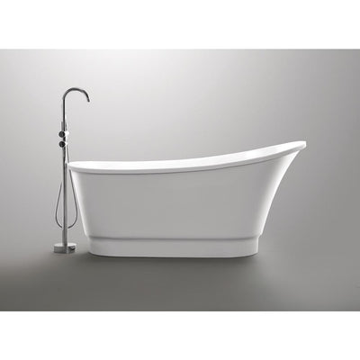 ANZZI Prima Series FT-AZ095 5.58 ft. Freestanding Bathtub in White
