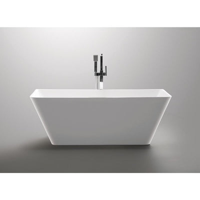 ANZZI Zenith Series FT-AZ099 5.58 ft. Freestanding Bathtub in White