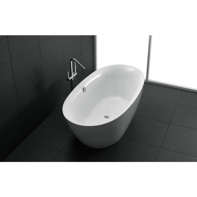 ANZZI Adze Series FT-AZ107 5.9 ft. Freestanding Bathtub in White