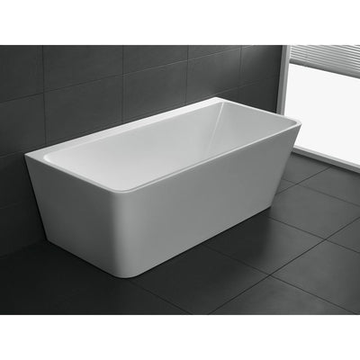 ANZZI Strait Series FT-AZ109 5.58 ft. Freestanding Bathtub in White