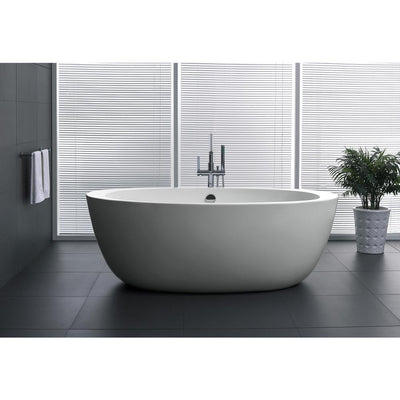 ANZZI Yield Series FT-AZ111 5.58 ft. Freestanding Bathtub in White