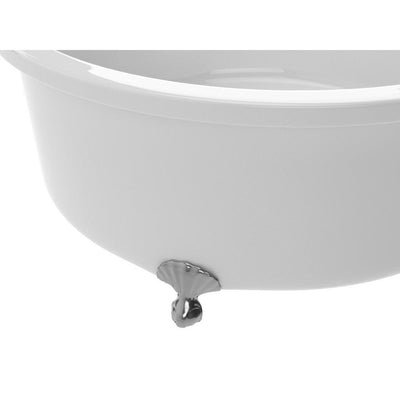 ANZZI Cantor Series FT-AZ302 4.9 ft. Acrylic Clawfoot Non-Whirlpool Bathtub in White
