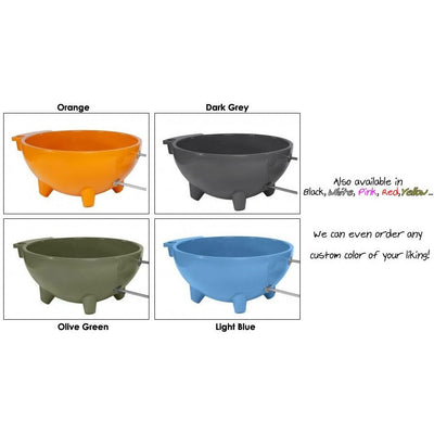 Alfi Brand FireHotTub The Round Fire Burning Portable Outdoor Hot Bath Tub - Affordable Cheap Freestanding Clawfoot Bathtubs Tub