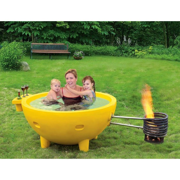 Alfi Brand FireHotTub The Round Fire Burning Portable Outdoor Hot ...
