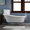 Barclay Imogene Premium Acrylic Slipper Clawfoot Freestanding Tub