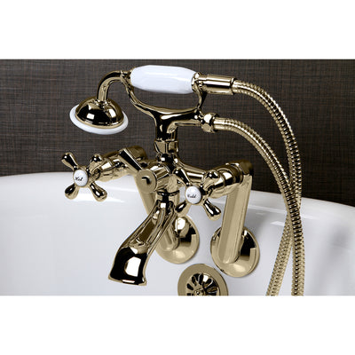Kingston Brass Vintage Tub Wall Mount Clawfoot Tub Filler with Hand Shower - Affordable Cheap Freestanding Clawfoot Bathtubs Tub