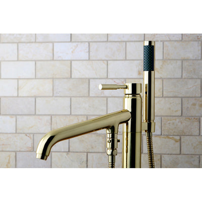 Kingston Brass KS813 Concord Floor Mount Tub Filler with Hand Shower - Affordable Cheap Freestanding Clawfoot Bathtubs Tub