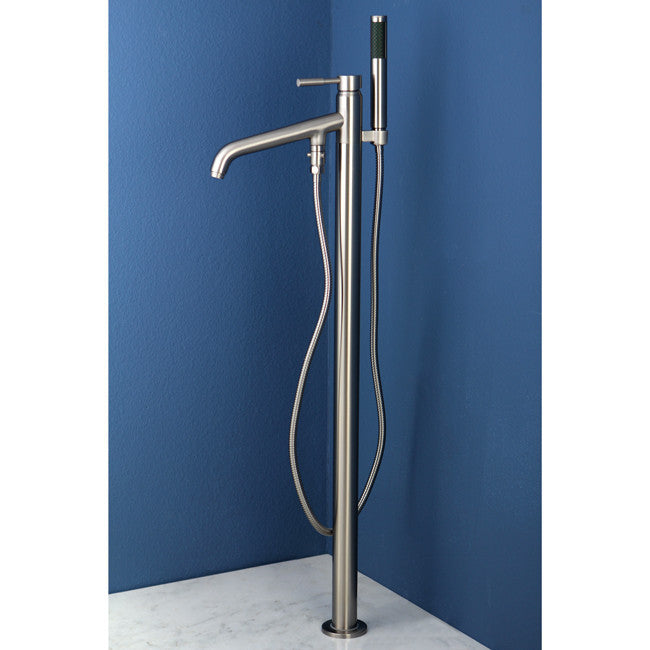 Kingston Brass KS813 Concord Floor Mount Tub Filler With Hand Shower    Affordable Cheap Freestanding Clawfoot