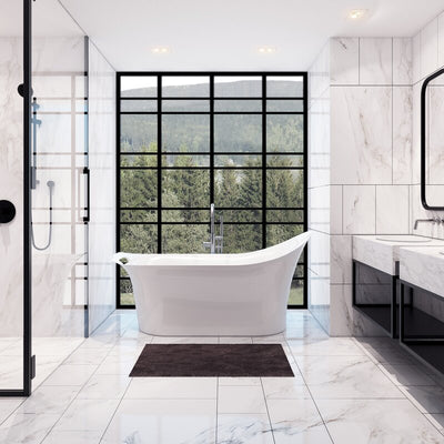 "A & E Bath and Shower London 67"" Freestanding Tub No Faucet"